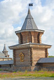 Serf tower of the Sacred and Troitsk Trifonov-Pechengsky man's monastery Stock Images