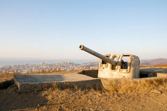 Serfdom gun. One of the fortress guns Vladivostok Fortress Royalty Free Stock Image