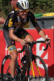 Serge Pauwels completes the stage in Cauterets Royalty Free Stock Photo