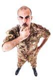 Sergeant Blowing het fluitje stock afbeeldingen