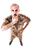 Sergeant Blowing the whistle Stock Images