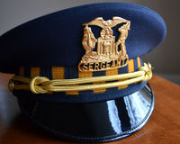 Sergeant Police Hat. A sergeant police hat from the Chicago police department Stock Images