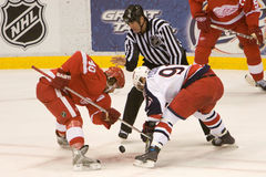 Sergei Fedorov Faces Off Against Kris Draper Royalty Free Stock Images