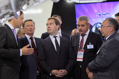 Sergei Ivanov,  Dmitry Medvedev and Vladislav Masa Royalty Free Stock Image