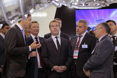 Sergei Ivanov, Dmitry Medvedev and Vladislav Masal Stock Image