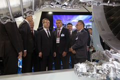 Sergei Ivanov, Dmitry Medvedev and Vladislav Masalov Royalty Free Stock Photo
