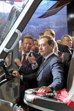 Sergei Ivanov and Dmitry Medvedev Stock Photography