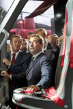 Sergei Ivanov and Dmitry Medvedev Stock Images