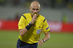 Sergei Karasev - árbitro del fútbol Imagenes de archivo
