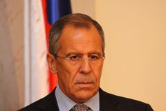 Sergei Lavrov Stock Photo