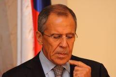 Sergei Lavrov Fotos de archivo libres de regalías