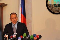Sergei Lavrov imagens de stock royalty free