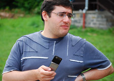 Sergei Movsesian - World chess champion 2011 Royalty Free Stock Photo
