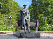 Sergei Rachmaninoff Monument in Veliky Novgorod, Russia Stock Photo