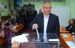 Sergei Stanishev lider Bułgarska partia socjalistyczna przyjęcie Europejscy socjaliści i prezydent, Zdjęcie Royalty Free