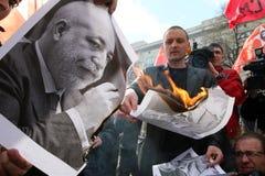 Sergei Udaltsov - amorce de l'avant gauche Image libre de droits