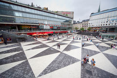 Sergels torg attracts many tourists Stock Photography