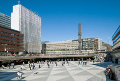 Sergels torg (Sergel's Square). Sweden. Stockholm Royalty Free Stock Images