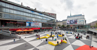 Sergels torg in Stockholm city. Royalty Free Stock Photo
