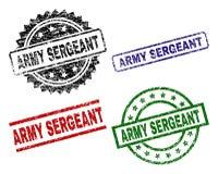 SERGENT d'ARMÉE texturisé endommagé Seal Stamps Illustration Libre de Droits