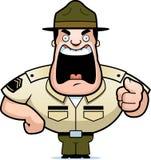 Sergent instructeur illustration de vecteur