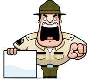 Sergent instructeur de bande dessinée Sign illustration stock