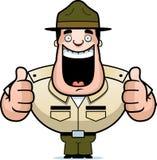 Sergent instructeur de bande dessinée Thumbs Up illustration libre de droits
