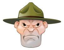 Sergent instructeur fâché Cartoon illustration de vecteur