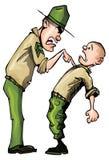 Sergent instructeur fâché de dessin animé Images libres de droits