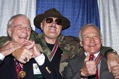 Sergent Slaughter et deux astronautes américains Photo stock