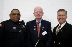 Sergente Dan Clarke con altri 2 veterani Immagine Stock Libera da Diritti