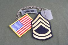 Sergente First Class r dell'ESERCITO AMERICANO fotografia stock