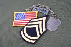 Sergente First Class r dell'ESERCITO AMERICANO immagine stock