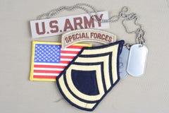 Sergente First Class r dell'ESERCITO AMERICANO fotografie stock