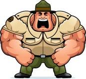 Sergente istruttore Yelling del fumetto Fotografia Stock