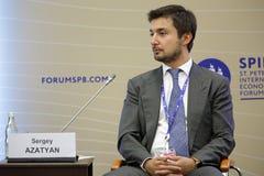 Sergey Azatyan. SAINT-PETERSBURG, RUSSIA - JUN 17, 2016: St. Petersburg International Economic Forum SPIEF-2016. Sergey Azatyan, Co-founder, Managing Partner Stock Photos