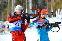 Sergey Bocharnikov concurrence dans la tasse régionale d'IBU à Sotchi Images stock