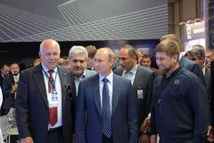 Sergey Chemezov, Vladimir Putin and Ramzan Kadyrov Royalty Free Stock Image