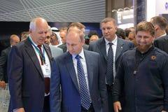 Sergey Chemezov, Vladimir Putin and Ramzan Kadyrov Royalty Free Stock Photography