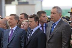 Sergey Ivanov, Andrey Vorobyov i Dmitry Rogozin, Obrazy Royalty Free
