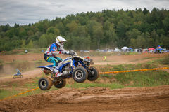 Sergey Ivanyutin 2. MOSCOW, RUSSIA - SEPTEMBER 10, 2016: Sergey Ivanyutin 2 OstoLuch, g.Petrovo-Dalneye, class ATV, in the 4 stage of the XSR-MOTO.RU Cross Stock Photography