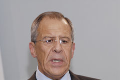 Sergey Lavrov_FOREIN MINISTER Royalty Free Stock Photo
