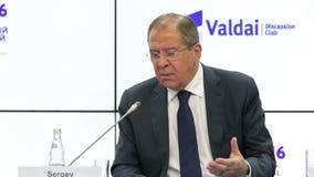 Sergey Lavrov stock footage