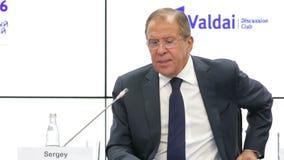 Sergey Lavrov stock video footage