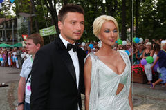 Sergey Lazarev  and  Lera Kudryavtseva. At the opening international contest of young singers New Wave 2010 Stock Images