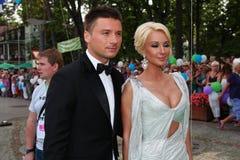 Sergey Lazarev  and  Lera Kudryavtseva Stock Images