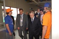 Sergey Mironov auf Baikalsk ein ökonomisches Forum Lizenzfreie Stockfotos