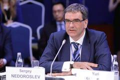 Sergey Nedoroslev. SAINT-PETERSBURG, RUSSIA - JUN 17, 2016: St. Petersburg International Economic Forum SPIEF-2016. Sergey Nedoroslev, Chairman of the Board Stock Image
