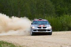 Sergey Perosyan auf Mitsubishi Lancer Stockbilder