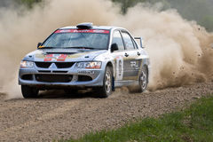 Sergey Perosyan auf Mitsubishi Lancer Stockfotos